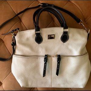 White Leather Dooney & Burke Bag